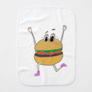 running burger burp cloth