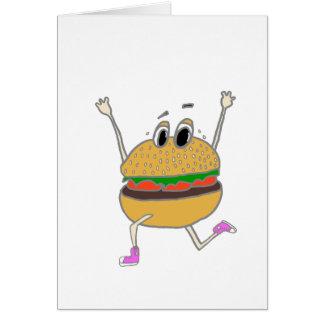 running burger card