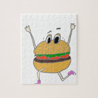 running burger jigsaw puzzle