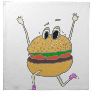 running burger napkin