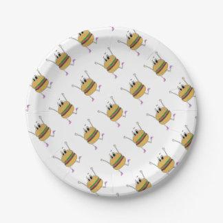 running burger paper plate