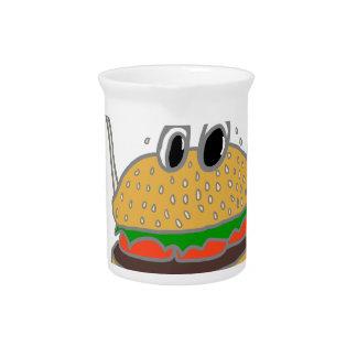 running burger pitcher