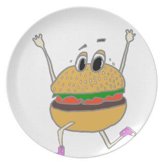 running burger plate