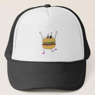 running burger trucker hat