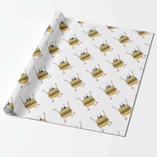 running burger wrapping paper