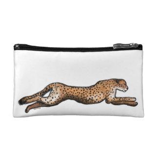 Running Cheetah Art Make Up Bag Cosmetic Bags