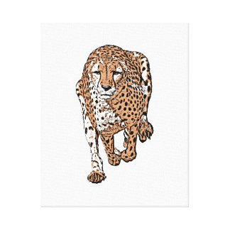 Running cheetah, style 2 canvas print