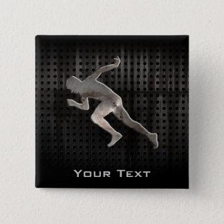Running; Cool 15 Cm Square Badge