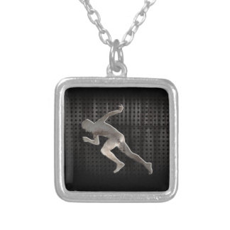 Running; Cool Silver Plated Necklace