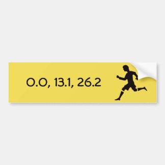 Running distances bumper sticker
