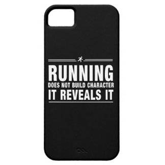 Running Doesnt Build Character iPhone 5 Cover