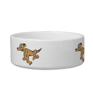 Running Dog Cartoon Customisable Pet Bowl