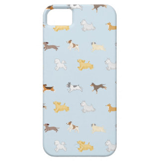 Running Dogs Illustrated Cell Phone Case