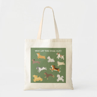 Running Dogs Illustrated Tote Bag