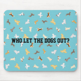 Running Dogs Mousepad