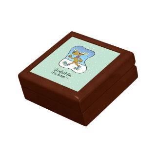 Running Exercise Reindeer Christmas Gift Box