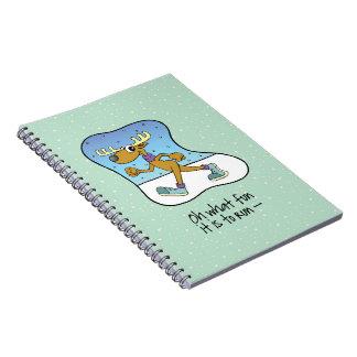 Running Exercise Reindeer Christmas Notebook