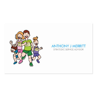 Running Family Team Business Card Pack Of Standard Business Cards