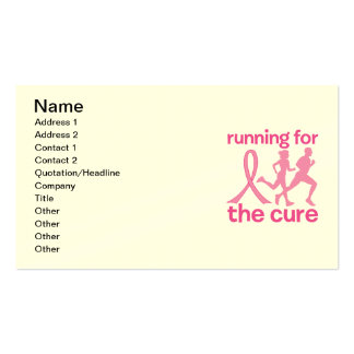 Running For The Cure Business Cards