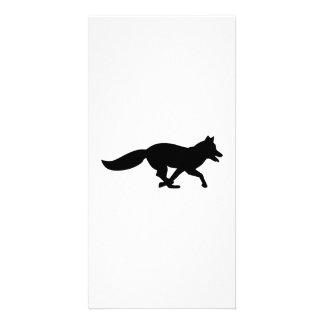 Running fox photo greeting card