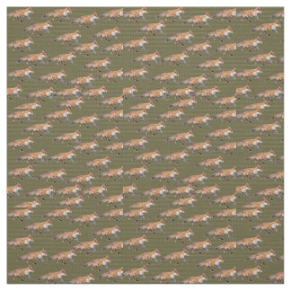 Running Foxes Fabric