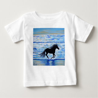 Running Free by the Sea 2 Baby T-Shirt
