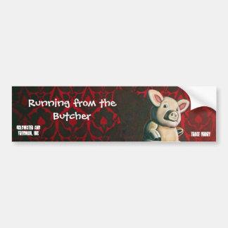 Running From The Butcher Bumper Sticker