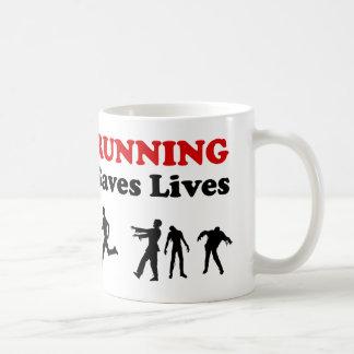 Running (from Zombies) Saves Lives mug
