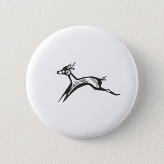 Running Gazelles #1 6 Cm Round Badge