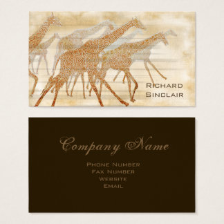Running Giraffes ID141 Business Card