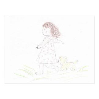 Running Girl 1 Postcard