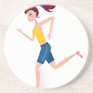 Running girl edition coaster