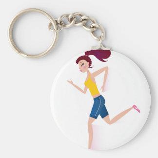 Running girl edition key ring