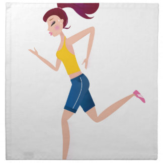 Running girl edition napkin