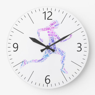Running girl large clock