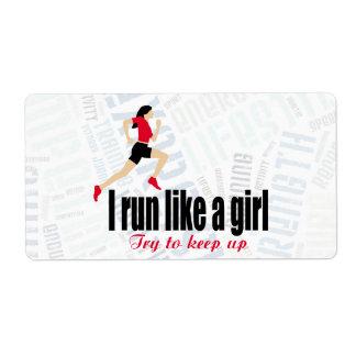 Running girl shipping label