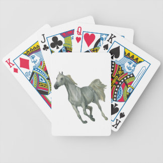 Running Grey Horse Bicycle Playing Cards