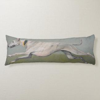Running Greyhound Dog Art Body Pillow