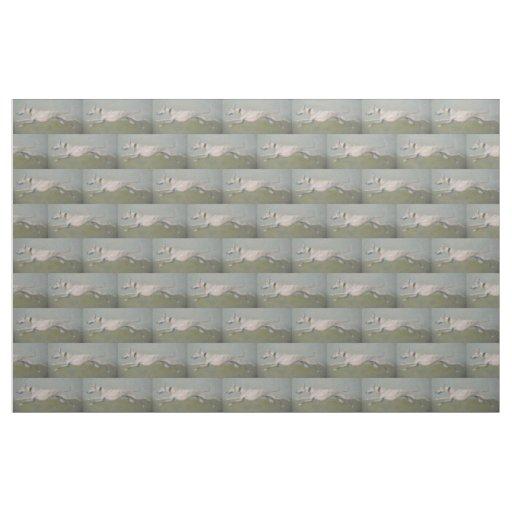 Running Greyhound Dog ArtFabric Fabric