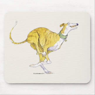 Running Greyhound Mousepad