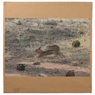 Running Ground Squirrel Printed Napkins