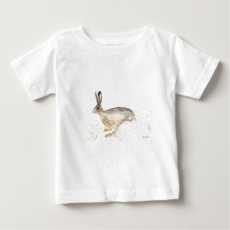 Running hare watercolour baby T-Shirt