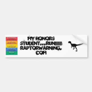 Running Honors Student Bumper Sticker