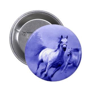 Running Horse 6 Cm Round Badge