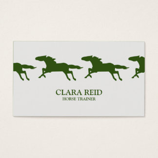 Running Horse CUSTOM COLOR | Business Card