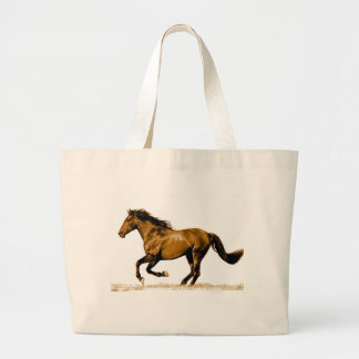 Running Horse Large Tote Bag