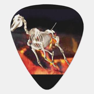 Running Horse Skeleton Guitar Pick