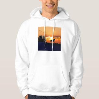 running horse  - sunset horse - horse hoodie