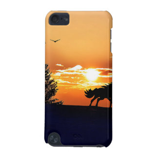 running horse  - sunset horse - horse iPod touch 5G cover