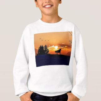 running horse  - sunset horse - horse sweatshirt